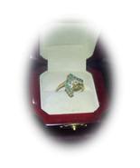 Emerald and Diamond Cascade 14kt ring! ~ Design... - $550.00