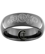 8mm Black Dome Tungsten Carbide Dr. Who Time Lo... - $49.00