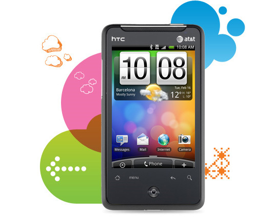 AT&T HTC Aria A6366 GSM Android Camera Smartphone Cell Phone