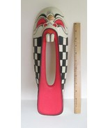 Hand Carved Wood Mask, Clown Face 1980s - $38.00