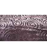 Deep Plum Swirl Print Velvet Upholstery Fabric ... - $19.95