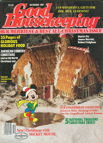 Good housekeeping december 1989 gingerbread house ideas for Good house magazine