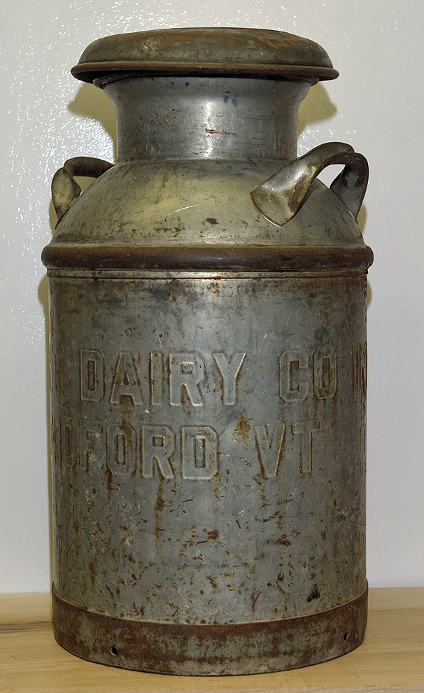Vintage Metal Dairy Milk Creamery Can Container Vermont