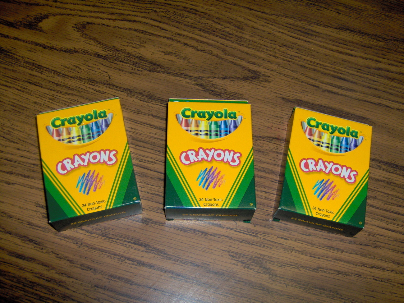 Lot of 3 Crayola Crayons Non-Toxic 24 Pack
