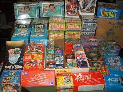 1,000 OLD FOOTBALL CARDS un-opened packs lot Rookies