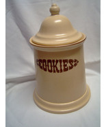 Pfaltzgraff Village Cookie Jar and Lid Slanted Sides 6-507 - $38.00