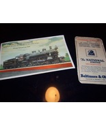 Two Vintage Railroad - Postcard and Schedule - $8.99