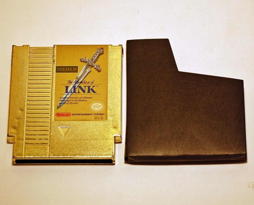 Zelda II : The Adventure of Link ( Nintendo NES ) with Sleeve. Gold Cartridge
