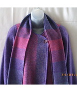 Made in Ireland long pure wool lavender and pin... - $75.00