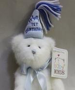 Baby Boyds Bear 1st Birthday Boy - Poseable - $4.50