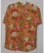 Ladies White Stag Hawaiian Blouse Hibicus Size XL - $8.00