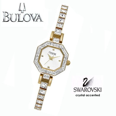 Bulova Ladies Swarovski Crystal Watch FREE SHIPPING