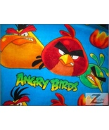 ANGRY BIRDS PRINT POLAR FLEECE FABRIC-BLUE-6.90/YRD  - $6.57