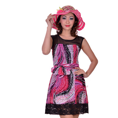 Sophistix - Karine Pink Printed Dress : Sizes S M L XL