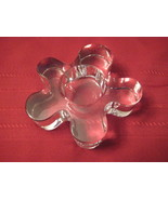 Scandinavian Clear Glass Flower Petal Candle Ho... - $9.72