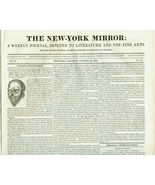 1831 Issue THE NEW-YORK MIRROR  Ghoulish Discov... - $10.00
