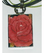 Sterling Silver Wooden Rose Necklace 925 PB - $49.97