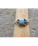 Dainty Sterling Silver & Turquoise Ring  - $9.99