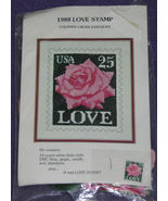 1988 Love Stamp Counted Cross Stitch Kit NIP - $12.99