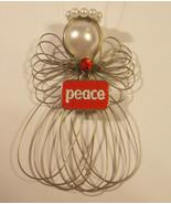 Peace Angel Ornament Handmade New - $7.65
