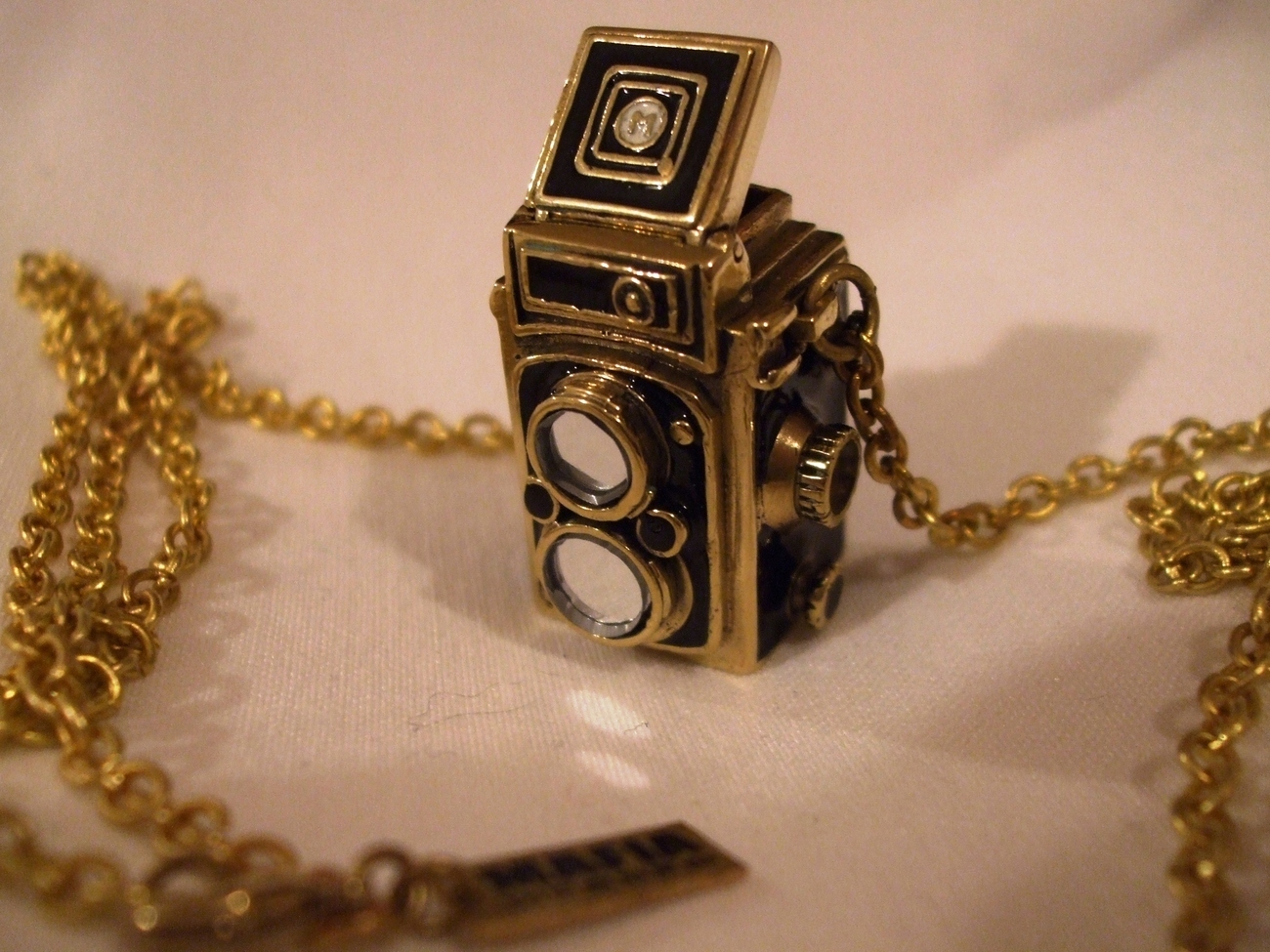 Brass Old Camera Pendant with Chain by MAFIA Jewellery