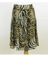 TRIBAL Sheer Flowy Animal Print Skirt Size 8 Te... - $22.48