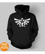 Zelda Triforce white logo Hoodie xbox pc game h... - $29.95