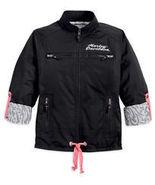 Harley-Davidson Jacket Black Nylon Primitive Ro... - $110.00