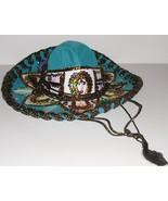 Vtg JU-LA PIGALLE SOMBRERO hat colorful sequins... - $114.99