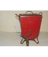 Antique Churn Hoges Metal Red  - $99.99