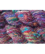 20 skeins soft silk yarn recycled crocheting kn... - $52.26
