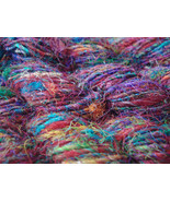 30 skeins soft silk yarn recycled crocheting kn... - $84.73