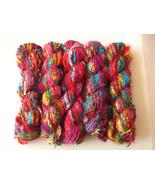 50 skeins Sari silk yarn recycled Christmas crafts - $106.67