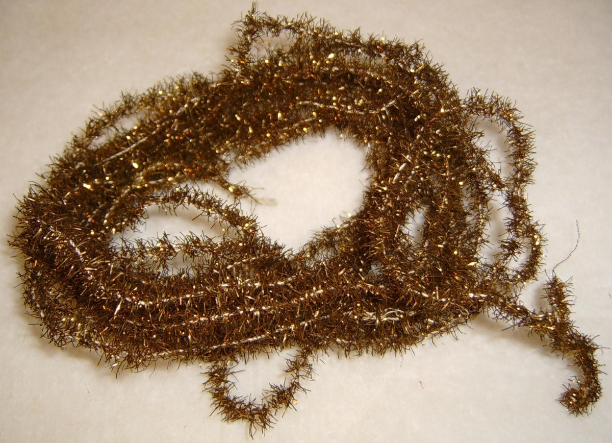 "216"" OLD NARROW TINSEL CHRISTMAS TREE GARLAND"