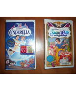 Cinderella and Snow White in VHS - Disney - Bot... - $24.00