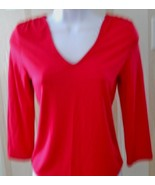 Dana Buchman Pink Long Sleeve Pull Over Top Siz... - $25.00