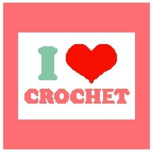 I Love Crochet Color Graph Afghan Pattern - $4.00