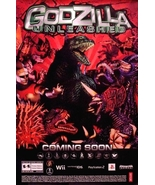 GODZILLA UNLEASHED Game Poster Wii / PSP 2' x 3... - $40.00