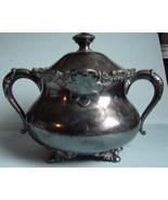 Sugar bowl Barbour Silverplated Quadruple 2416 - $15.00