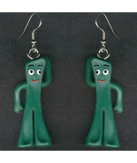 GUMBY EARRINGS - Vintage Retro Cartoon Toy Charm Costume Jewelry