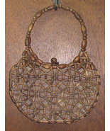 Vintage 1970s Wooden Bead Handbag Purse Korea - $35.99