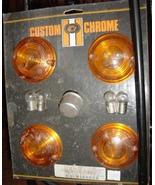 Harley Custom Chrome Flat Lens Turn Signal Kit ... - $8.99