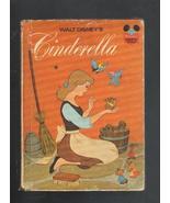 Walt Disney's Cinderella Hardcover 1974, Disney... - $3.50