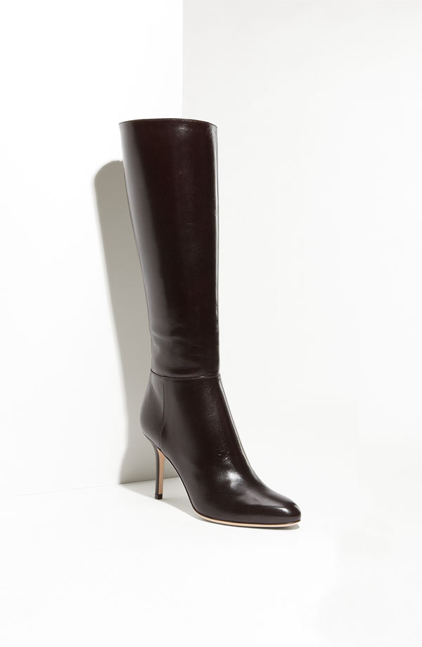 2012 JIMMY CHOO KIRBY BROWN TALL CLASSIC POINTY TOE BOOTS EU 39 41
