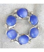 Coro 50s Mid Century Modern Biue Lucite Moonsto... - $19.95