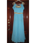 MARCHESA Turqoise Evening Grecian Goddess Gown... - $999.99