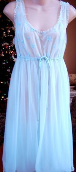 Vanity Fair Vintage Double Chiffon Layers Nightgown 36 M