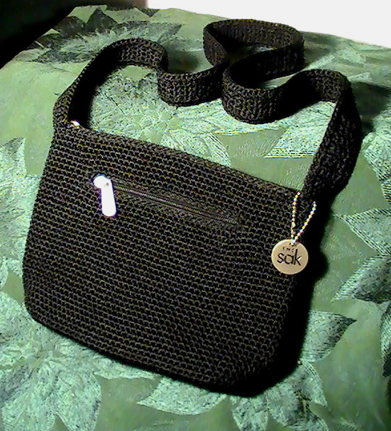 The Sak Black Crochet Handbag Shoulder Bag Purse - Handbags & Purses