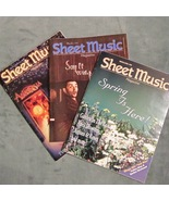 Super Lot of 3 Sheet Music Magazine Standard Pi... - $8.95