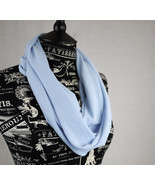 Light Ice Blue Jersey Infinity Scarf 